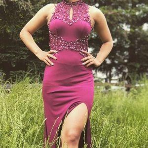 Macy's purple prom dress